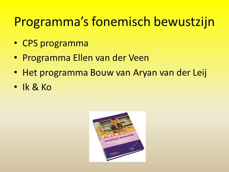 Programma's fonemisch bewustzijn