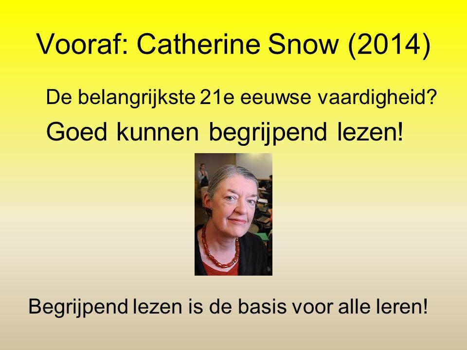 Vooraf: Catherine Snow (2014)