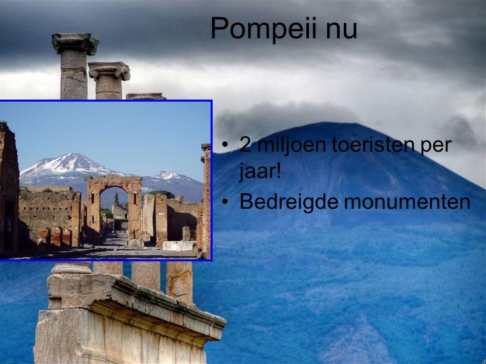 Pompeii nu 2 miljoen toeristen per jaar! Bedreigde monumenten