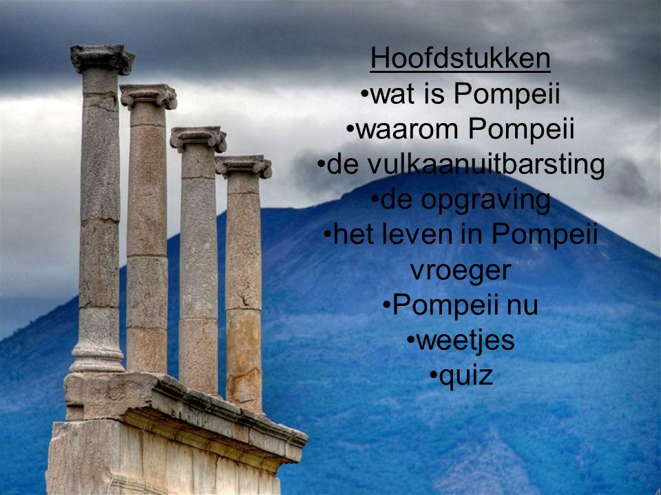 de vulkaanuitbarsting de opgraving het leven in Pompeii vroeger