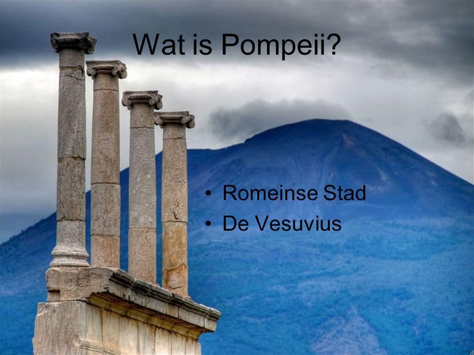 Wat is Pompeii Romeinse Stad De Vesuvius