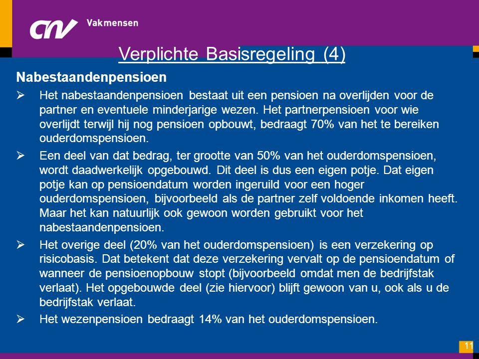 Verplichte Basisregeling (4)