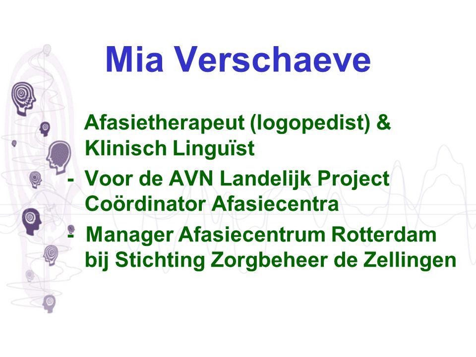 Mia Verschaeve Afasietherapeut (logopedist) & Klinisch Linguïst
