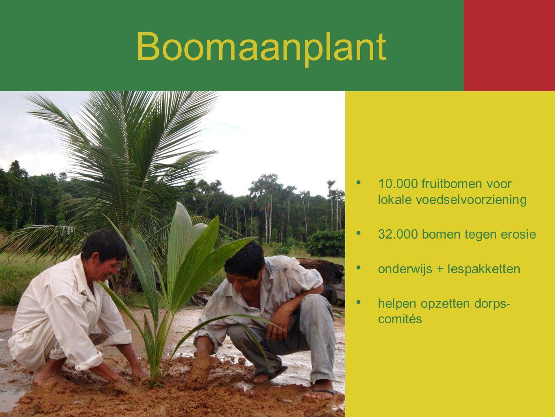 Boomaanplant 10.000 fruitbomen voor lokale voedselvoorziening