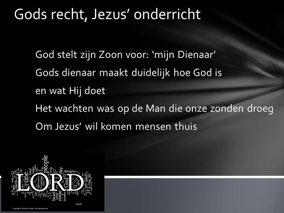 Gods recht, Jezus' onderricht