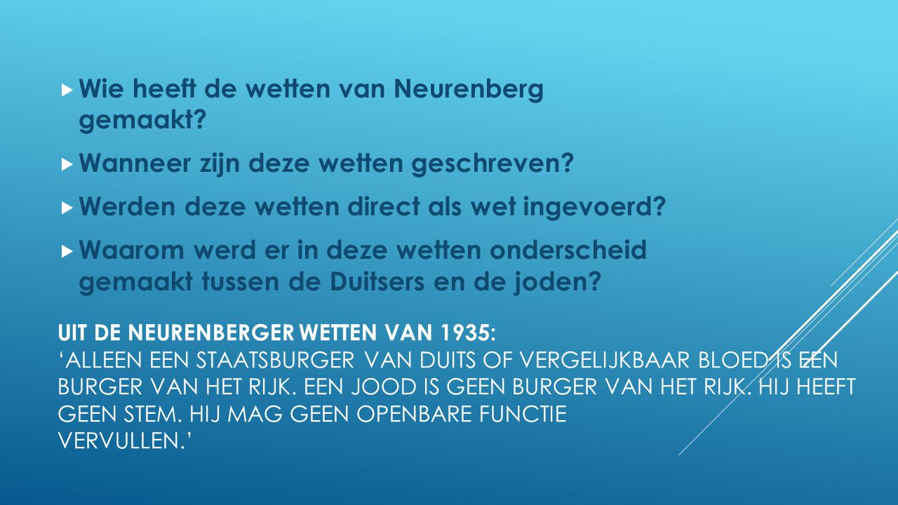 Wie heeft de wetten van Neurenberg gemaakt