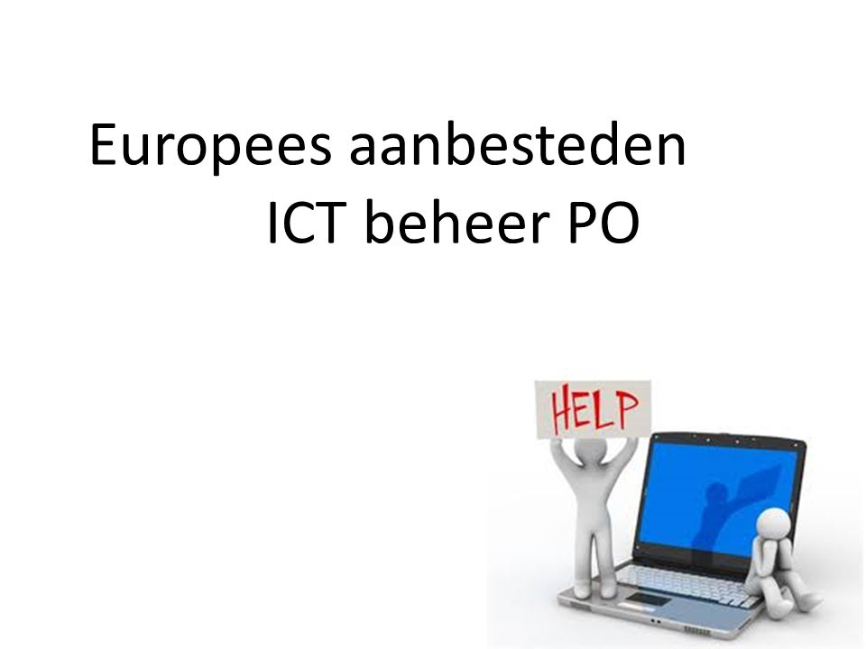 Europees aanbesteden ICT beheer PO