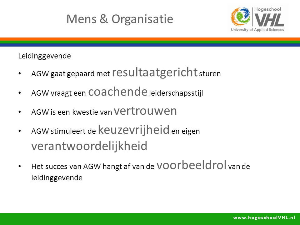Mens & Organisatie Leidinggevende