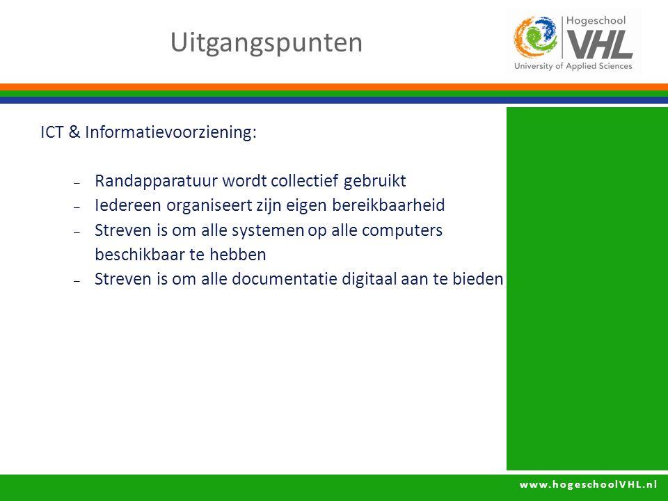 Uitgangspunten ICT & Informatievoorziening: