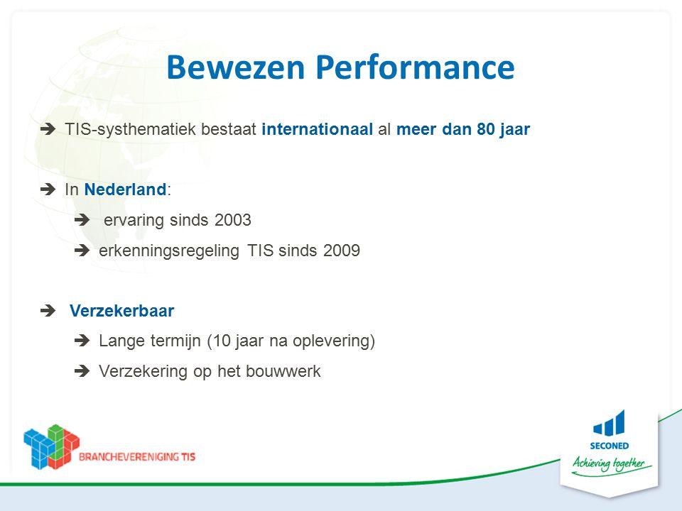 Bewezen Performance TIS-systhematiek bestaat internationaal al meer dan 80 jaar. In Nederland: ervaring sinds 2003.