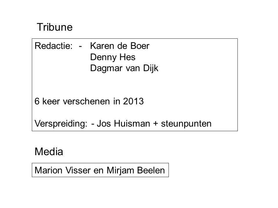 Tribune Media Redactie: - Karen de Boer Denny Hes Dagmar van Dijk