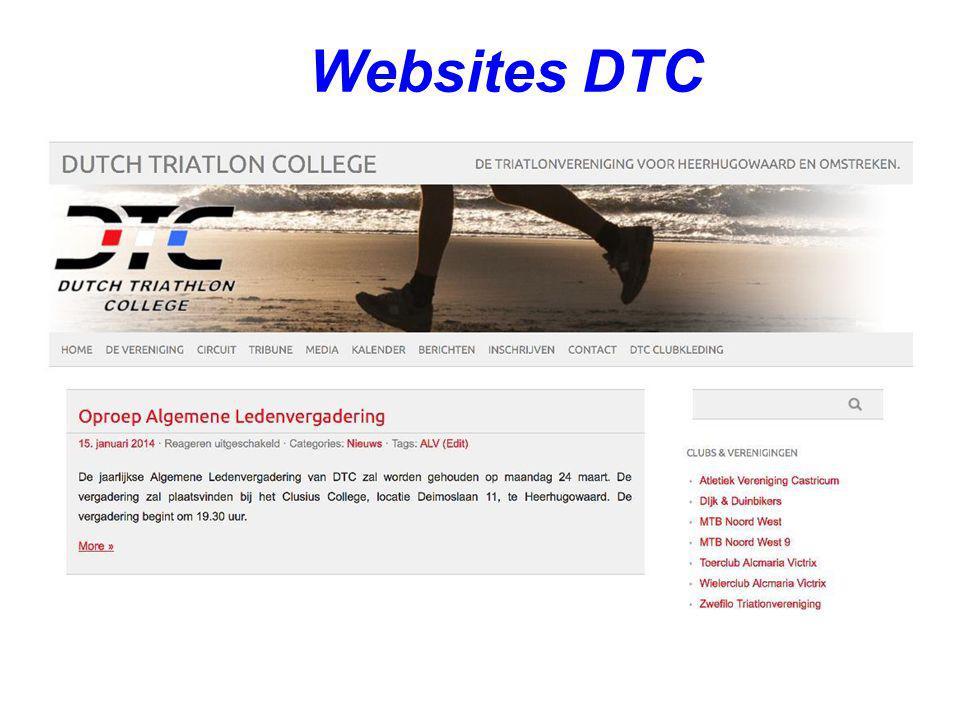 Websites DTC Introductie met een afbeelding van de huidige website.
