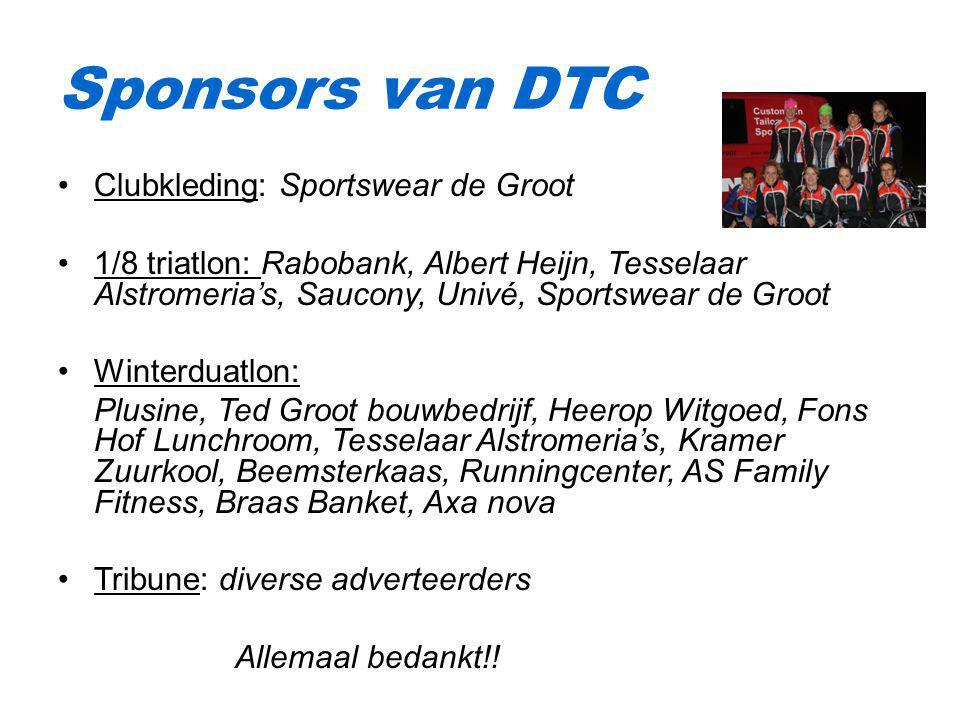 Sponsors van DTC Clubkleding: Sportswear de Groot
