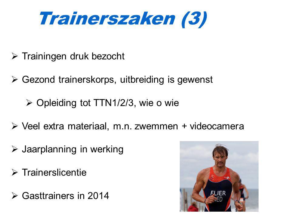 Trainerszaken (3) Trainingen druk bezocht