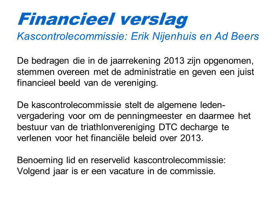 Financieel verslag Kascontrolecommissie: Erik Nijenhuis en Ad Beers