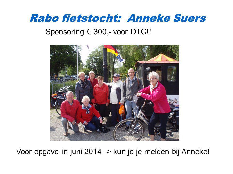 Rabo fietstocht: Anneke Suers