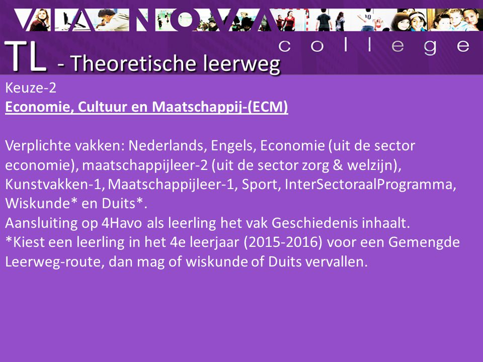 Keuze-2 Economie, Cultuur en Maatschappij-(ECM)