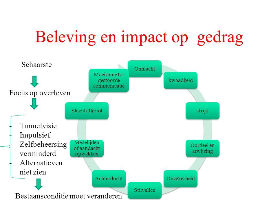 Beleving en impact op gedrag