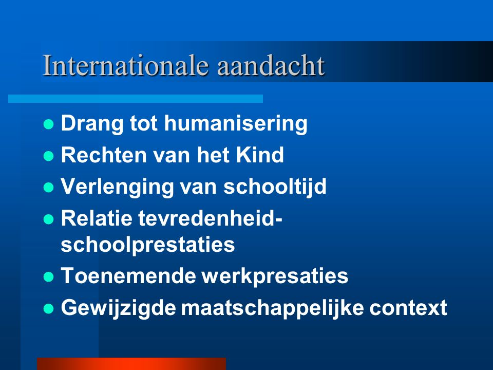 Internationale aandacht