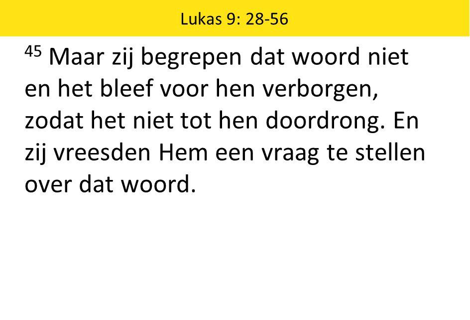 Lukas 9: 28-56