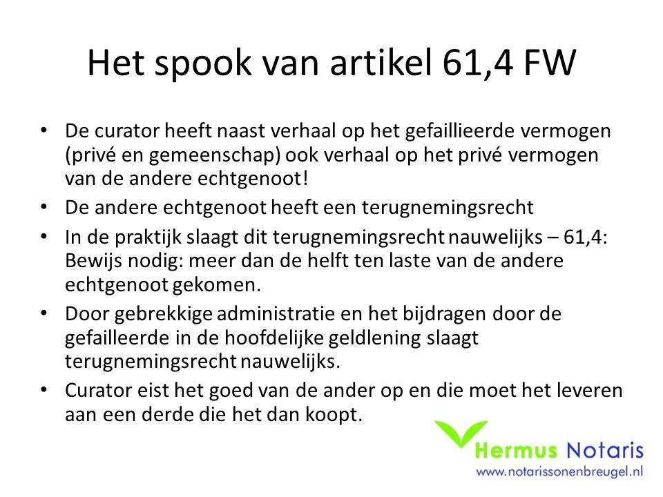 Het spook van artikel 61,4 FW