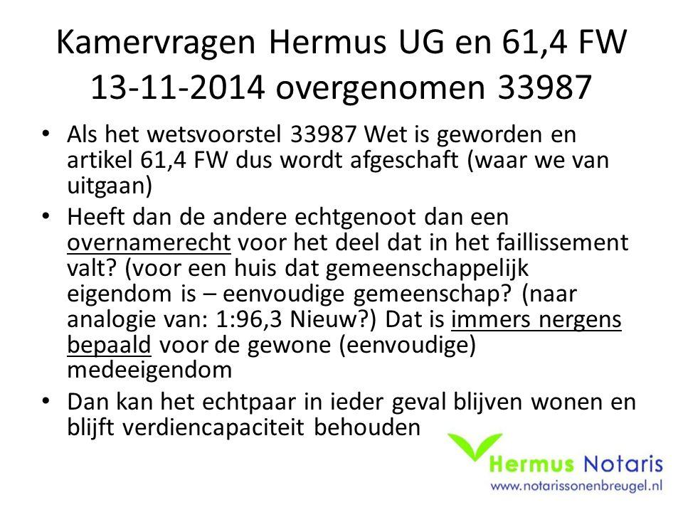 Kamervragen Hermus UG en 61,4 FW 13-11-2014 overgenomen 33987