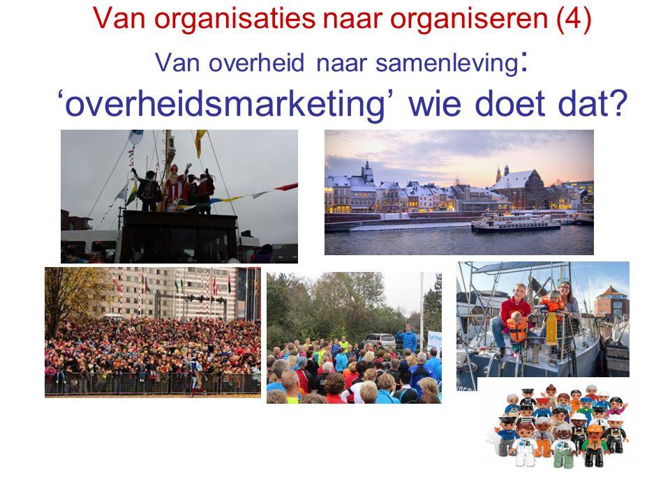 Van organisaties naar organiseren (4) Van overheid naar samenleving: 'overheidsmarketing' wie doet dat