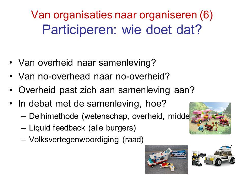 Van organisaties naar organiseren (6) Participeren: wie doet dat