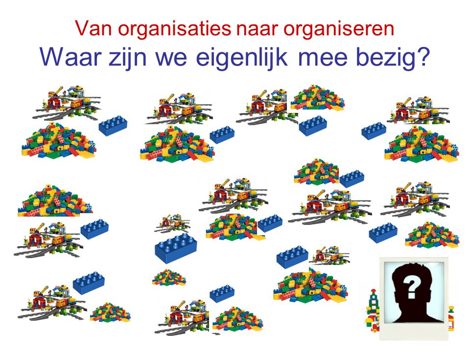 Van organisaties naar organiseren Waar zijn we eigenlijk mee bezig