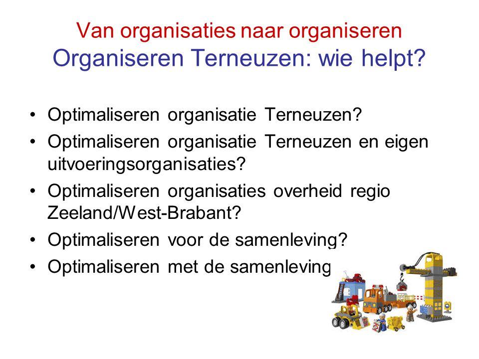 Van organisaties naar organiseren Organiseren Terneuzen: wie helpt