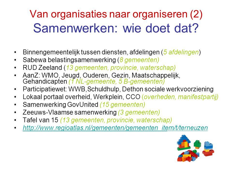 Van organisaties naar organiseren (2) Samenwerken: wie doet dat