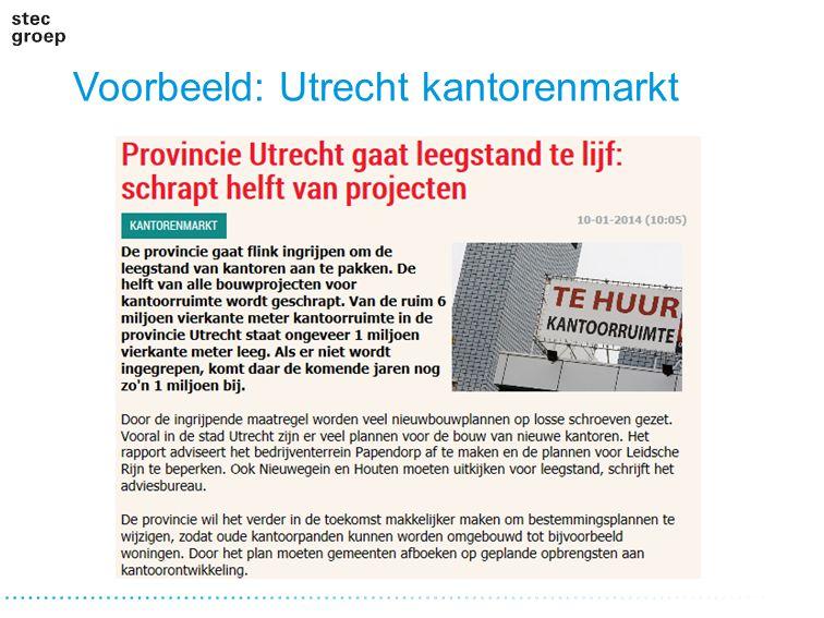 Voorbeeld: Utrecht kantorenmarkt