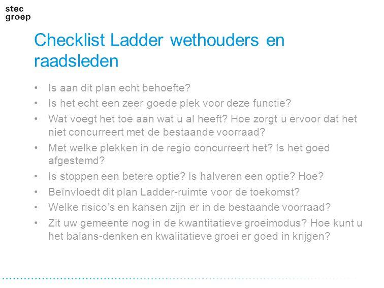 Checklist Ladder wethouders en raadsleden