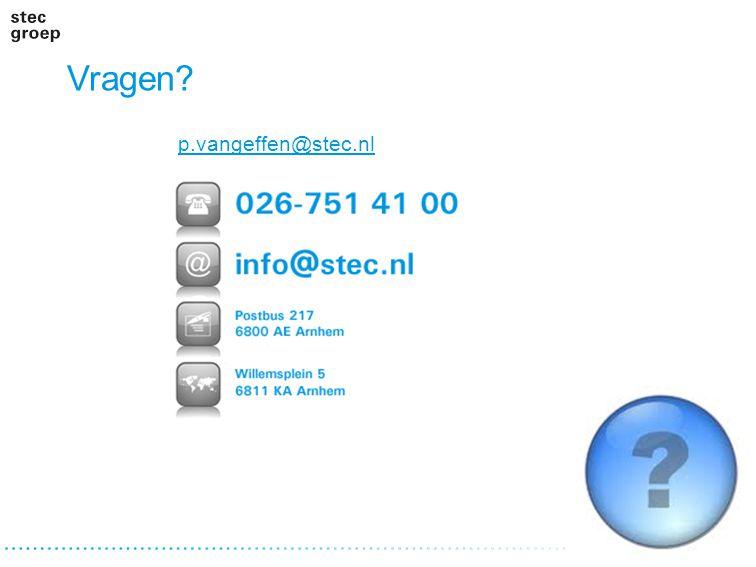 Vragen p.vangeffen@stec.nl