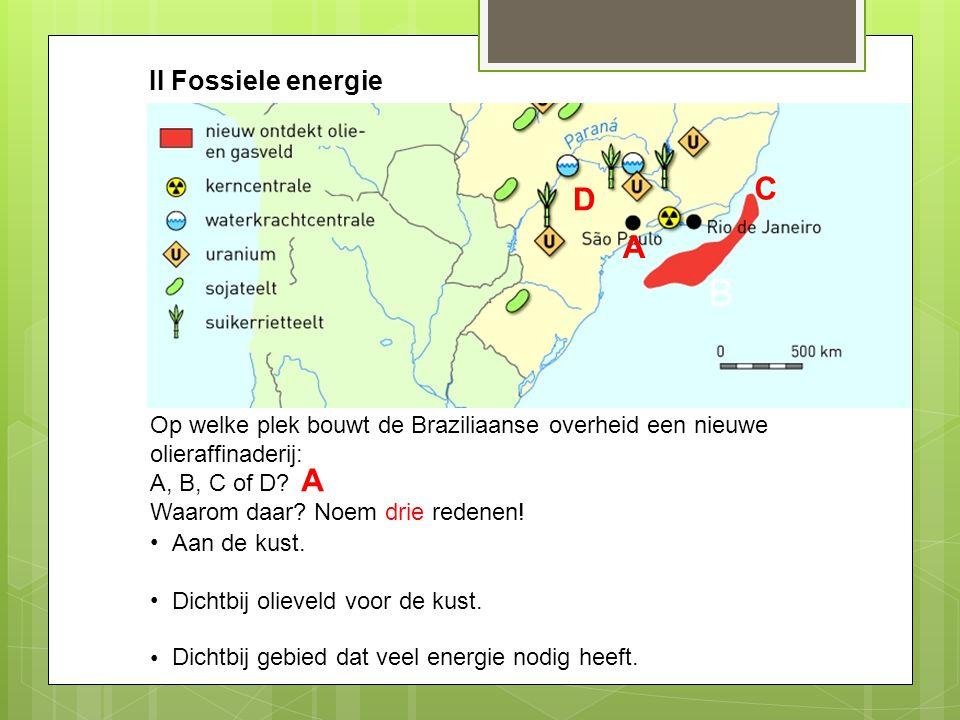 B C D A A B II Fossiele energie