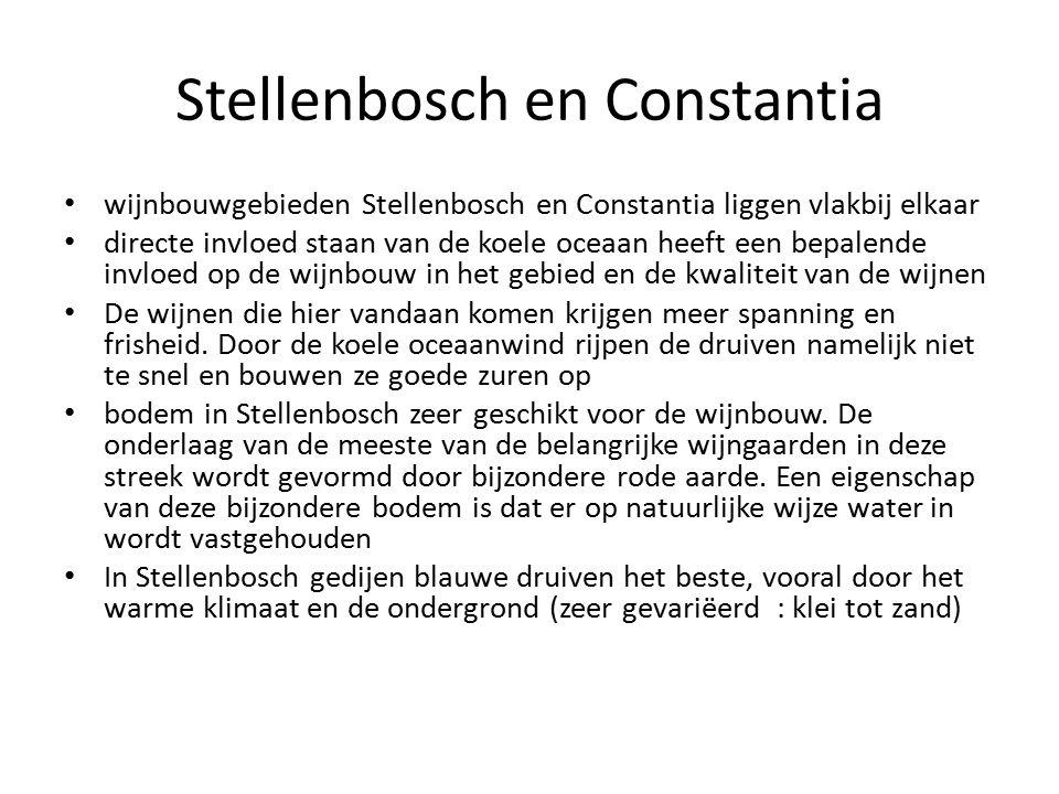 Stellenbosch en Constantia