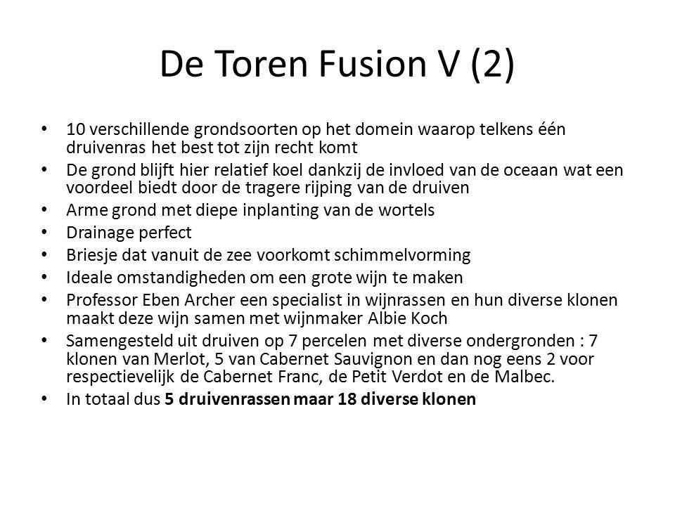 De Toren Fusion V (2) 10 verschillende grondsoorten op het domein waarop telkens één druivenras het best tot zijn recht komt.
