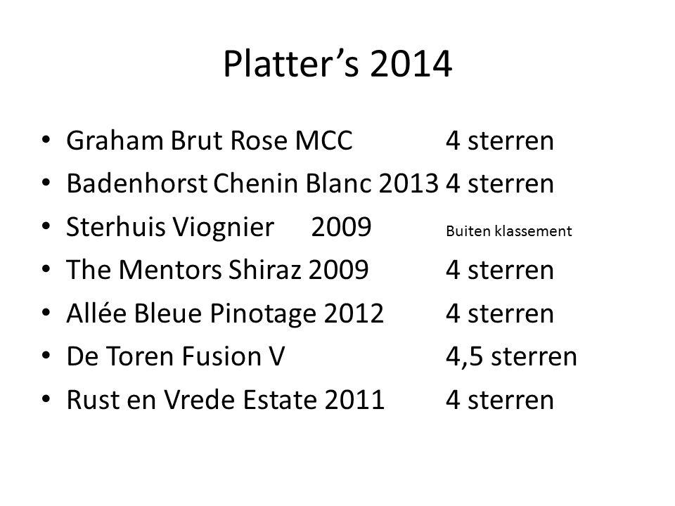 Platter's 2014 Graham Brut Rose MCC 4 sterren