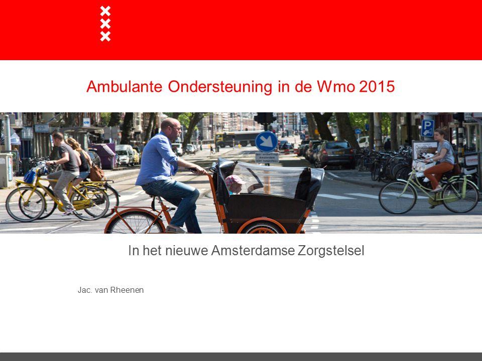Ambulante Ondersteuning in de Wmo 2015
