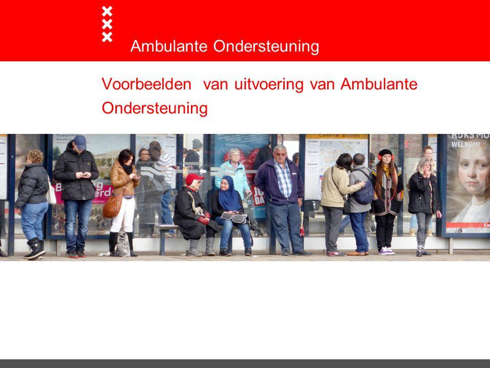 Voorbeelden van uitvoering van Ambulante Ondersteuning