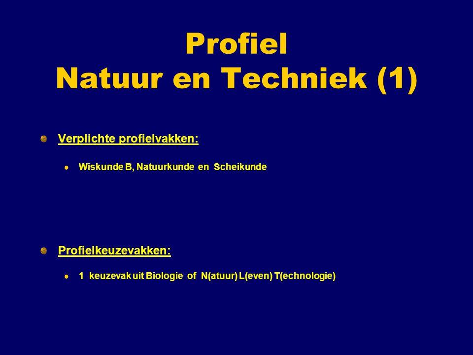 Profiel Natuur en Techniek (1)