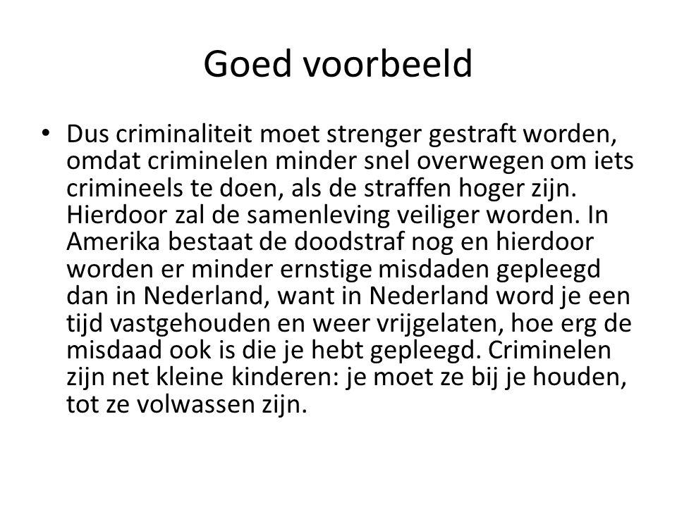 straffen in nederland moeten hoger
