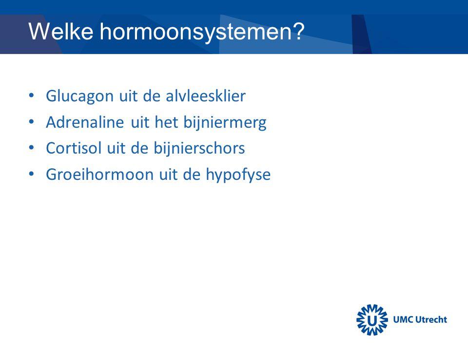 Welke hormoonsystemen