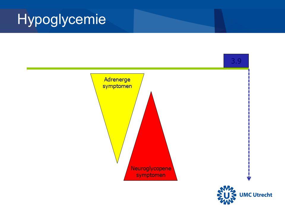 Hypoglycemie Adrenerge symptomen Neuroglycopene symptomen