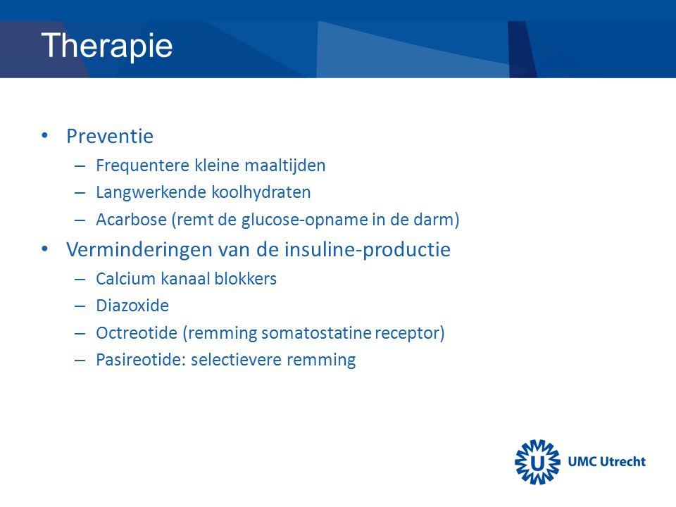 Therapie Preventie Verminderingen van de insuline-productie