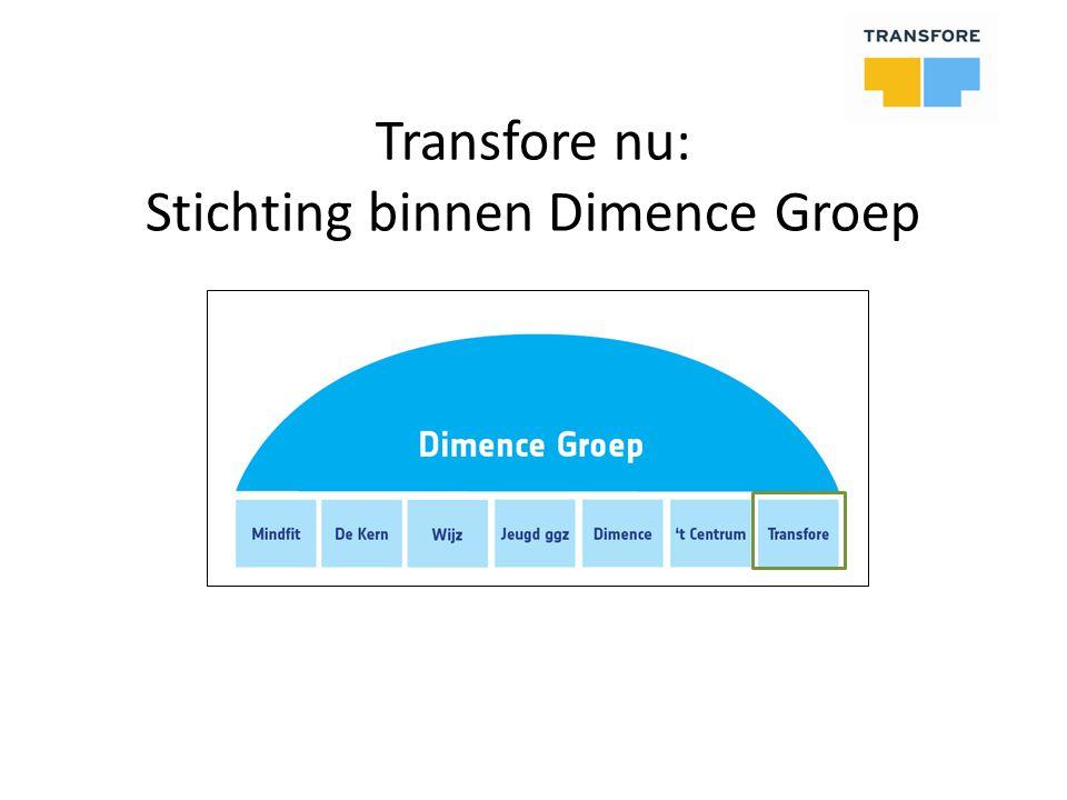 Transfore nu: Stichting binnen Dimence Groep