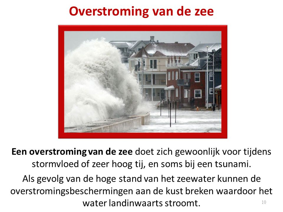 Overstroming van de zee