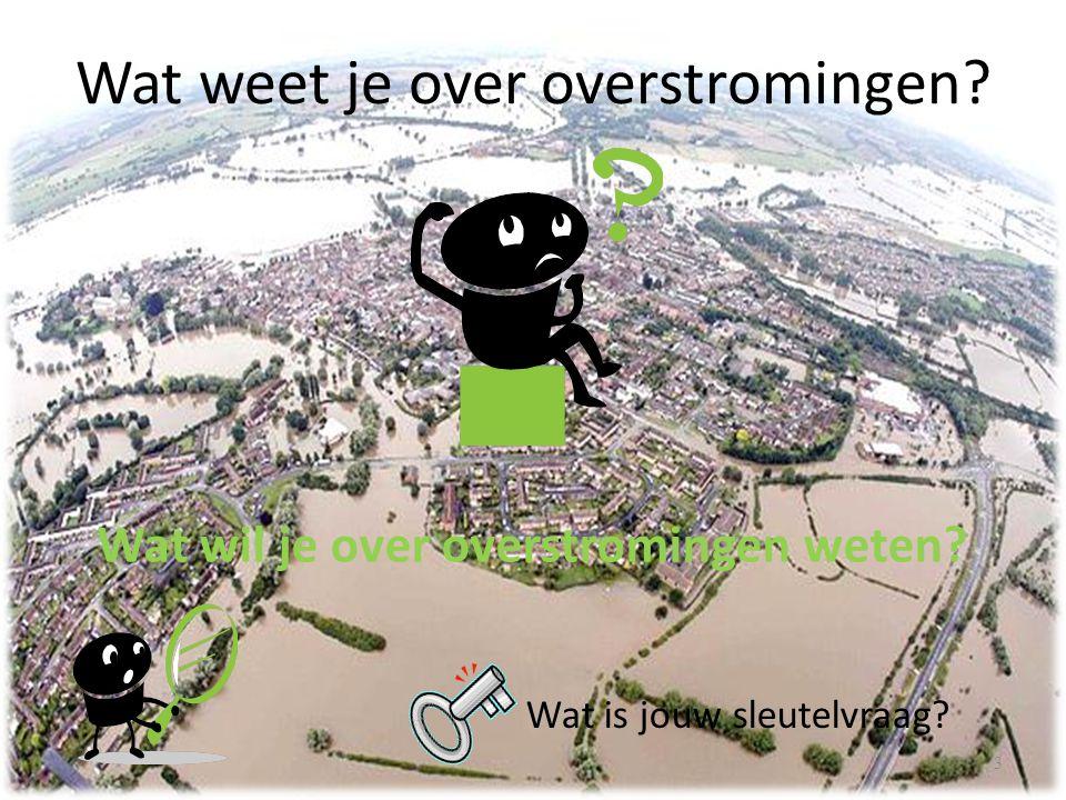 Wat weet je over overstromingen
