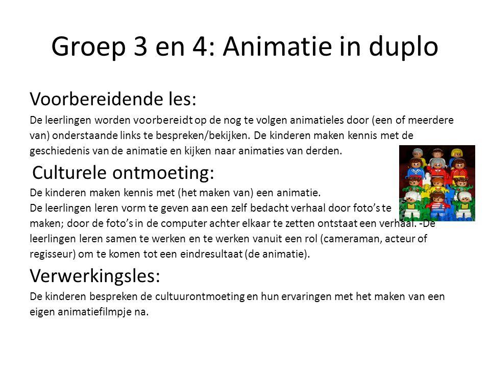 Groep 3 en 4: Animatie in duplo