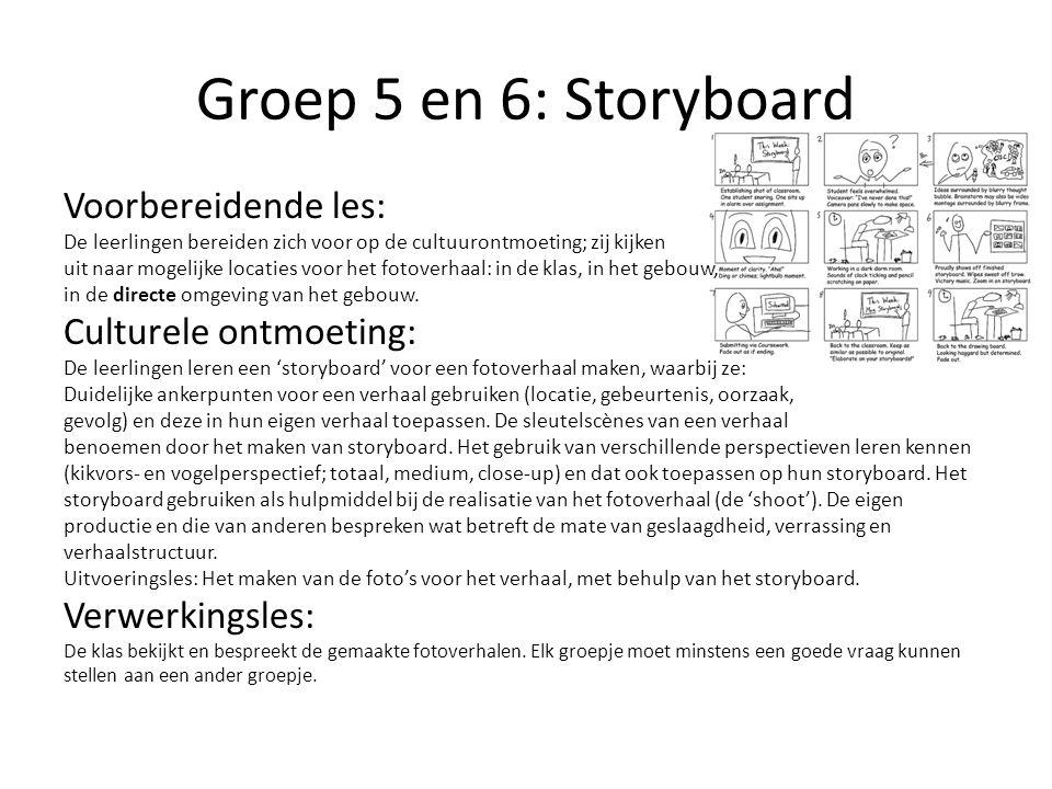 Groep 5 en 6: Storyboard Voorbereidende les: Culturele ontmoeting:
